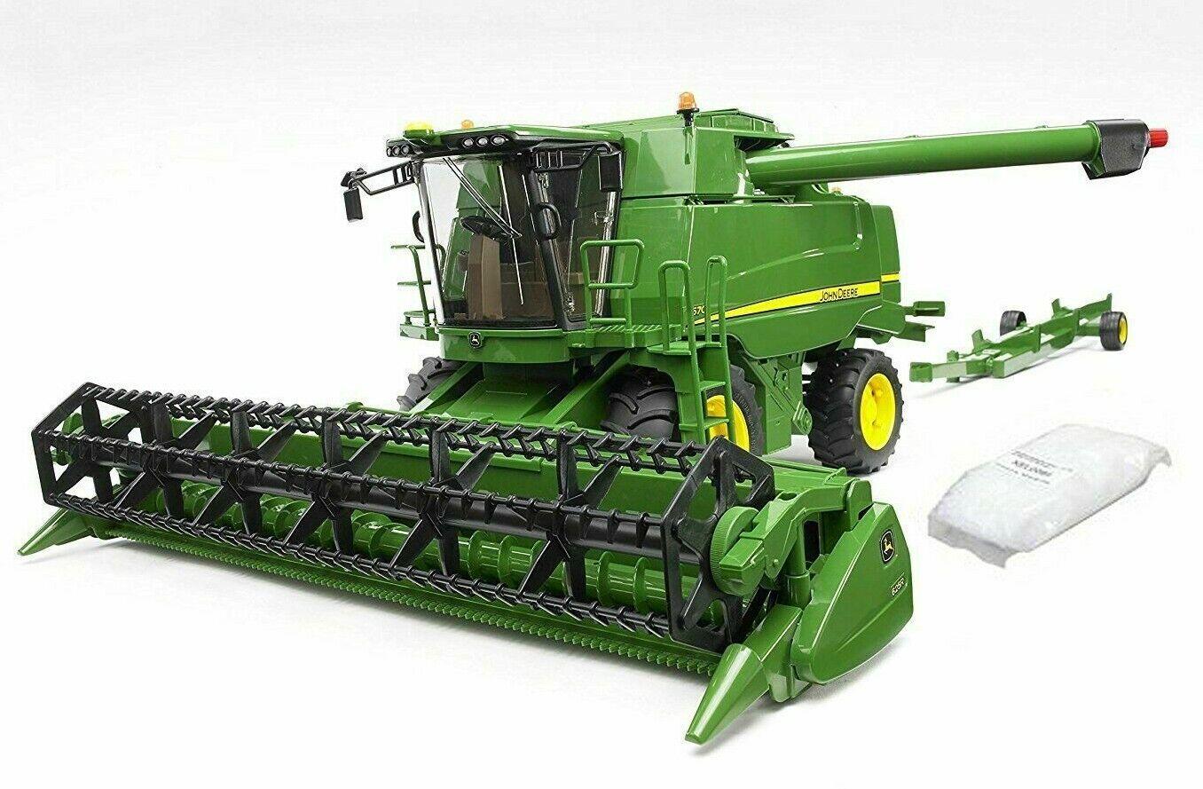 Bruder 02132 John Deere Mähdrescher T670i Erntemaschine Traktor Bagger Spielzeug