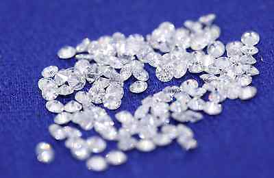 (one) MOISSANITE 2.25mm 0.035ct Round Loose Genuine Moissanite Gemstone