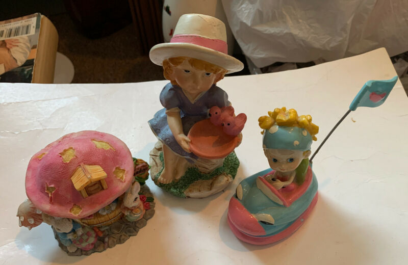 Figurines For A Little Girls Room Lot Of 3
