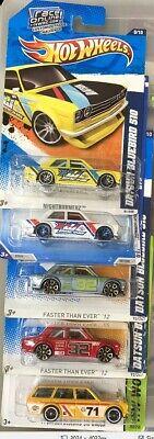 Hot Wheels lot of 5 Datsun Bluebird 510 cars