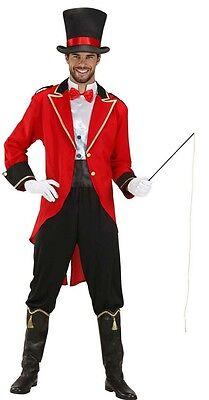 Lion Tamer Big Top Circus Ringmaster Red Tailcoat Men Fancy Dress Costume S- XL