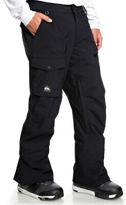 Men's Quiksilver Medium Utility Snow Waterproof Pants EQYTP03131 Black $190 New