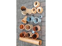 16 different drainage pipe fittings as per pictures leftover from previous work