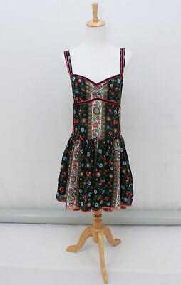 KATE MOSS FOR TOPSHOP Folk Floral Sleeveless Summer Dress Pockets Size AUS 12 M