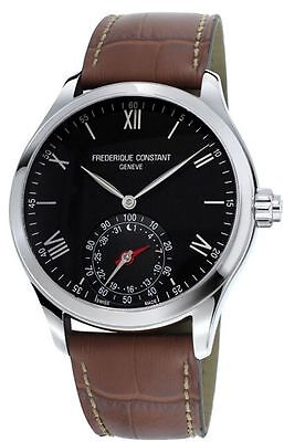 Men's Frederique Constant Horological Smart Watch FC-285B5B6 Brown Leather Band
