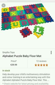 Alphabet puzzle floor mat for toddler