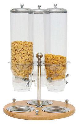 Piazza - Distributore dosatore cereali girevole triplo in legno Dispenser