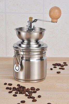Edelstahl Kaffeemühle mit Keramik-Kegelmahlwerk Kaffee-Mühle Mahlgrad variabel