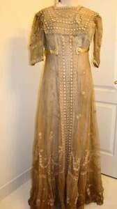 Amazing-Vintage-Victorian-Lace-Wedding-Gown-Tea-Gown