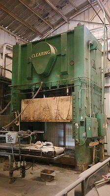 350 Ton Clearing 28 Stk 44 Sh 61 Ton Straight Side Press