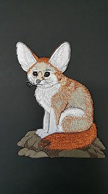 """Fennec Fox Embroidered Patch 4.9""""x6.1"""""""