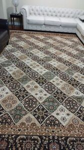 Carpet/Turkish rug extra large 10 ft by 12ft  $490 black/cream/b