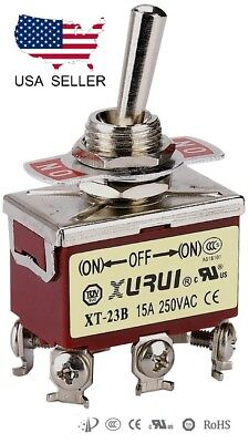 Heavy Duty Dpdt On-off-on Momentary Toggle Switch - Screw Terminals 23bf