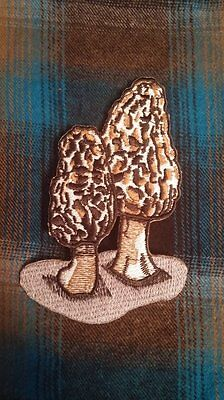 NATIVE MORELS Iron-On Morel Mushroom Patch! QTY: 1