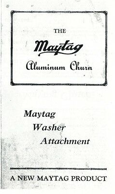 Maytag Butter Churn Gas Engine Motor Model 92 72 82 Cylinder Book Manual Washer