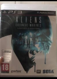 Aliens colonial marines PS3 game