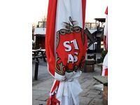 Large 3 metre Stella Artois parasol