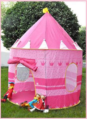Princess Castle Kids Pop Up Play Tent Girl Play House Portable Pink Foldable (Princess Castle Play Tent)