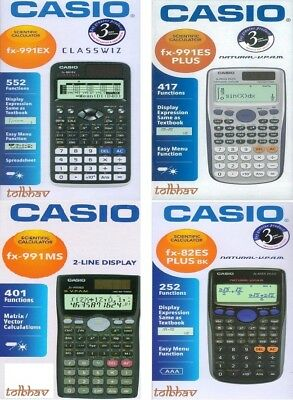 Casio Scientific Calculator fx-991ex / fx-991ES PLUS / fx-991MS / fx-82ES PLUS