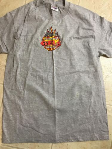 DUNLOP GEL PICKS LARGE ONE SIDED T-SHIRT, NEVER WORN, NON SMOKING HOME & RARE