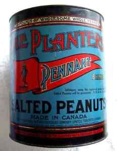 Very Rare CANADIAN Planters Peanuts Counter Tin