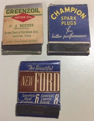 Vintage 1940s Automotive Related Match Books