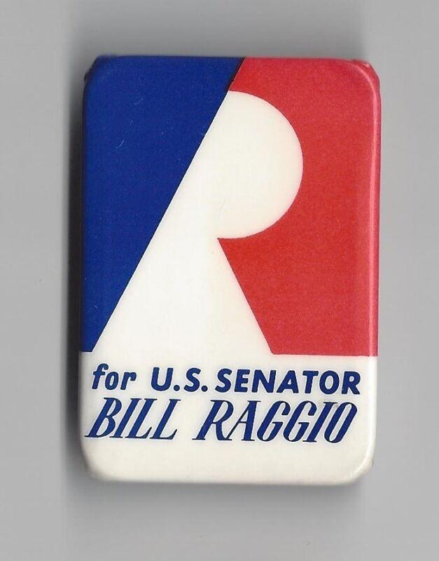 Bill Raggio Nevada (R) US Senate candidate 1968 1970 political pin button