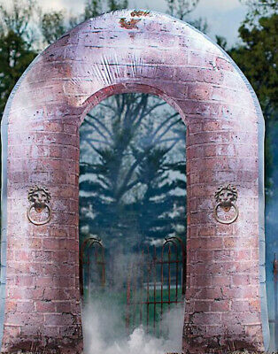 Halloween prop GRANDIN ROAD INFLATABLE STONE ARCHWAY 8' TALL UNIQUE AND RARE
