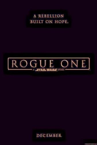 ROGUE ONE Star Wars 27x40 Teaser Movie Poster- original double sided one sheet