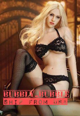 "1//6 Lace Lingerie Gartering Stockings Set For 12/"" TBLeague Female Figure ❶USA❶"