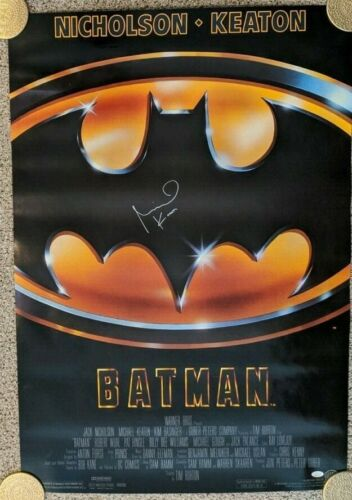 Batman Theatrical Poster signed by Michael Keaton__with JSA authentication