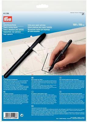 3 Schnittmusterfolien 1mx1,5m Prym 611298 + Permanent Marker Schnittmuster Stift
