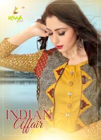 INDIAN AFFAIR ETHNIC VOL4 BY KAVYA WHOLESALE DESIGNER KURTI