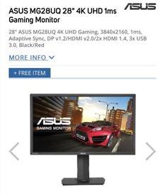 ASUS 28inch 4K Gaming Monitor