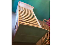 Kids white cabin bed with drawers and shelves