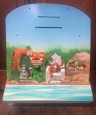 2001 Disney Jungle Book Wind-up McDonald's Collectible Figures on Display Back