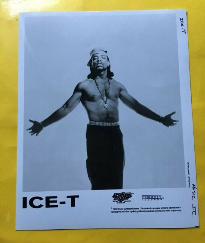 "Ice-T Press Photo 8x10"", Priority Records, See Photos."