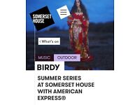 2 TICKETS TO BIRDY @ SOMERSET HOUSE - WEDS 12th JULY 7.30pm