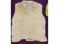 River island size 14 top boho style summer