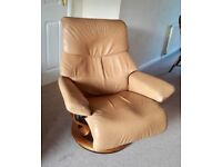 Ekornes Stressless Recliner two seater sofa and Chair + Footstool