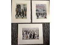 Mounted L.S Lowry Prints