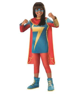 Ms Marvel Costume Girls M L Kids Child Cosplay - Ms Marvel Costume