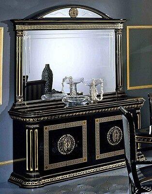 New Versace Design Italian Rossella Black/Gold Buffet Unit Sideboard Luxury