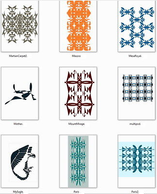 Digital Graphic Arts Design Patterns Fashion Fabric Tile Inlay Wallpaper Carpet