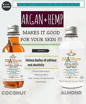 BEACHARM SUNSCREEN, BEST TANNING OIL IN THE WORLD, PURE QUALITY FOR YOUR