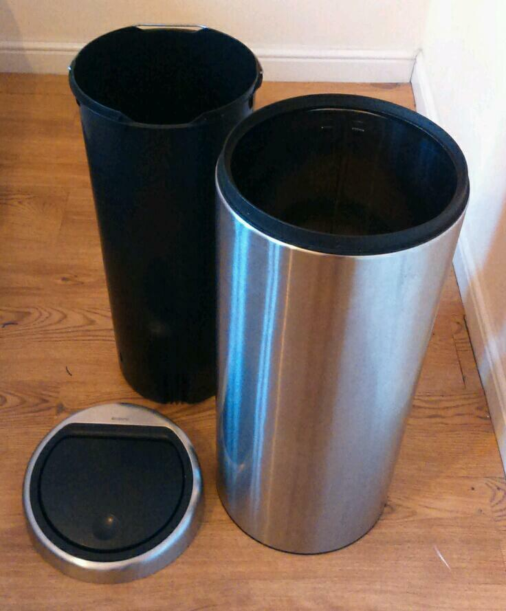 30 Litre Brabantia Stainless Steel Kitchen Bin