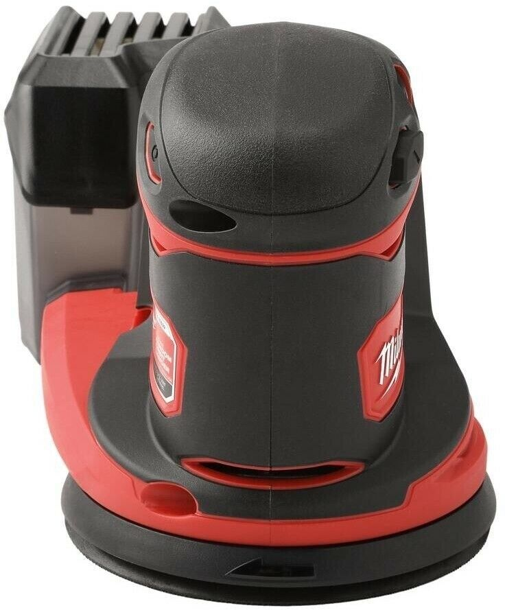 Milwaukee M18 18-Volt Lithium-Ion Powered Cordless 5 Random Orbit Sander with Quick Change Hook-and-Loop Sanding Pad up to 12,000 OPM with Variable Speed Control Tool-Only