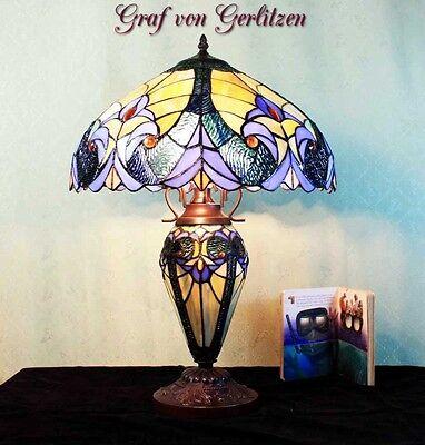 Graf von Gerlitzen Tiffany Tisch Lampe Leuchte Tiffanylampe Tischlampe GN229