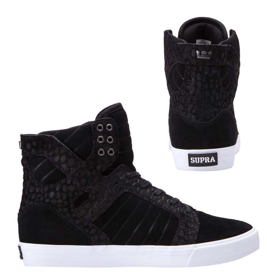 Supra Skytop High Top Lace Up Mens Trainers Casual Black 08003 079 U44