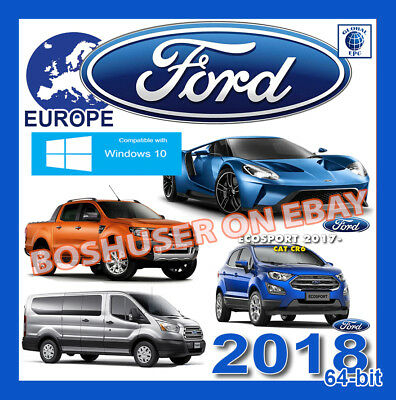 01.2018 FORD EPC PARTS CATALOGUE 64-BIT CARS+VANS TEILEKATALOG TRANSIT KUGA FIGO